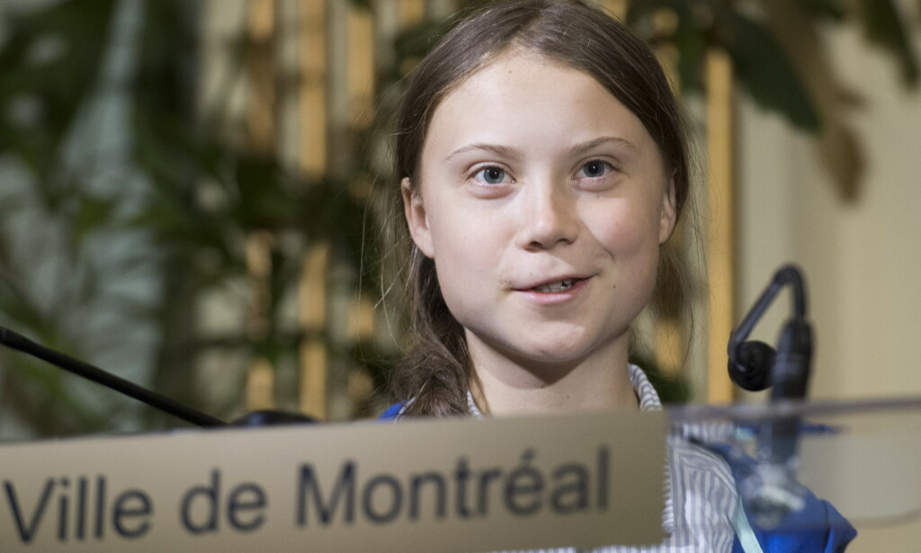 Swedish climate activist Greta Thunberg speaks to reporters after receiving the key to the city of Montreal during a ceremony in Montreal, Friday, Sept. 27, 2019. THE CANADIAN PRESS/Graham Hughes