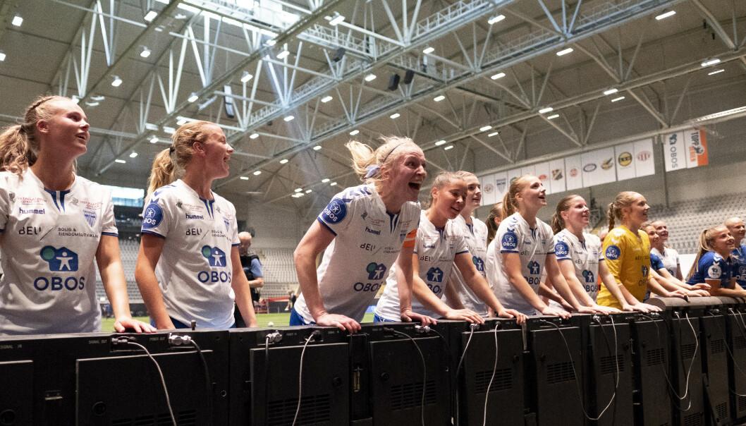 Nyetablerte Senter for kvinnefotball skal forske på kvinnelige fotballspillere. Foto: Fredrik Hagen / NTB scanpix