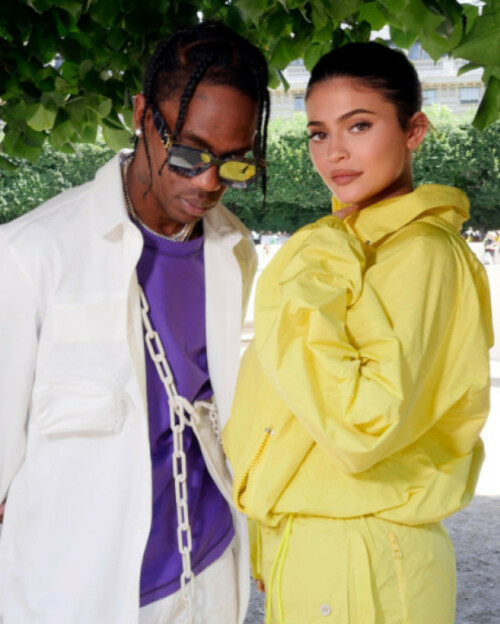 KJÆRESTEN: Kylie Jenner har de siste årene vært sammen med rapperen Travis Scott. Nå skal det angivelig være slutt mellom dem. Foto: NTB Scanpix