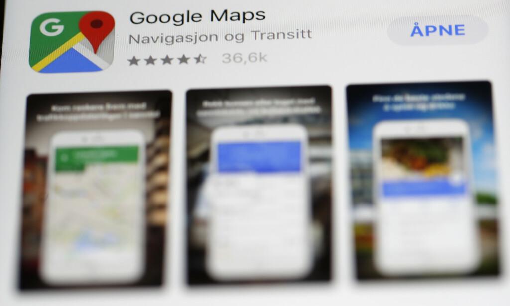 GÅ INKOGNITO: Snart kan du surfe skjult i kart-appen til Google. Foto: Terje Bendiksby/NTB Scanpix.