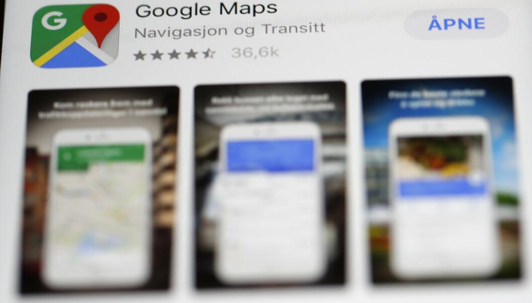 <strong>GÅ INKOGNITO:</strong> Snart kan du surfe skjult i kart-appen til Google. Foto: Terje Bendiksby/NTB Scanpix.