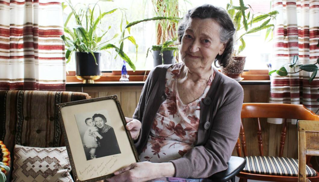 BARNEPIKEN: Olaug Marie «Mossa» Rørnes (siden Bergersen) ble ansatt som barnepike hos familien Sakolsky da Rebekka var gravid med Ruth. FOTO: Jødisk Museum