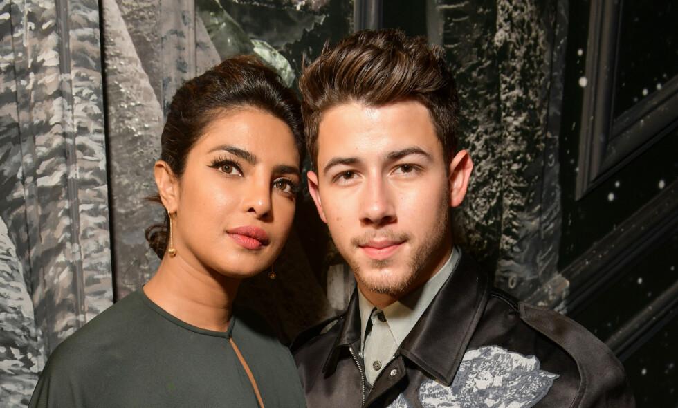 ALVORLIG: I et nytt intervju forteller sangstjernen Nick Jonas om at han ble alvorlig syk som følge av en ubehandlet diabetessykdom da han var i tenårene. Her er han med kona Priyanka Chopra. Foto: NTB Scanpix