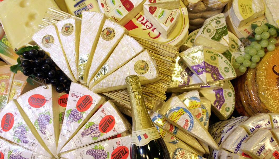 Ost fra nær sagt hele Europa og fransk vin er blant varene som fra 18. oktober pålegges straffetoll ved import til USA. Illustrasjonsfoto: Heiko Junge / NTB scanpix