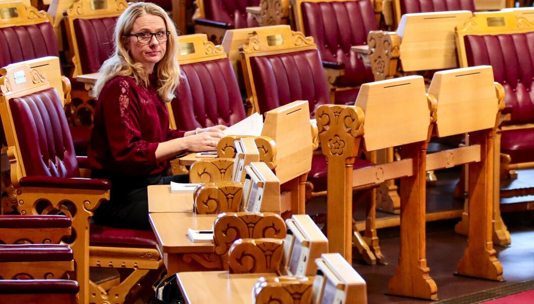 <strong>NYTT FORSLAG:</strong> Arbeids- og sosialminister Anniken Hauglie vil kutte minstesatsen i AAP-ordningen for unge under 25 år. Foto: Lise Åserud/NTB scanpix.