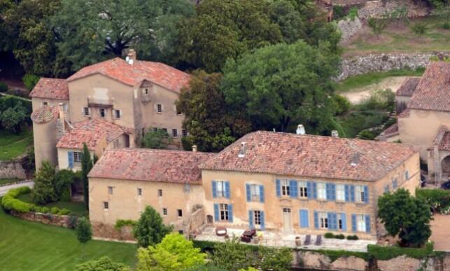 BRADS DRØMMEPROSJEKT: Det Franske slottet Château Miraval is worth $ 60 million. Her eiendommen photographers of 2008. Photo: NTB Scanpix