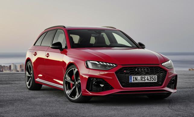 SISTE SKUDD: Audi har nettopp offentliggjort de første bildene av råtass-utgaven av A4 Avant, RS4. Foto: Audi AG