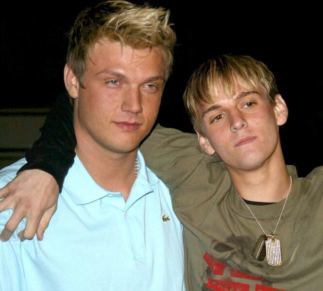 <strong>BRØDRE:</strong> Nick Carter og lillebror Aaron Carter har begge vært i rampelyset siden de var unge. Foto: NTB Scanpix