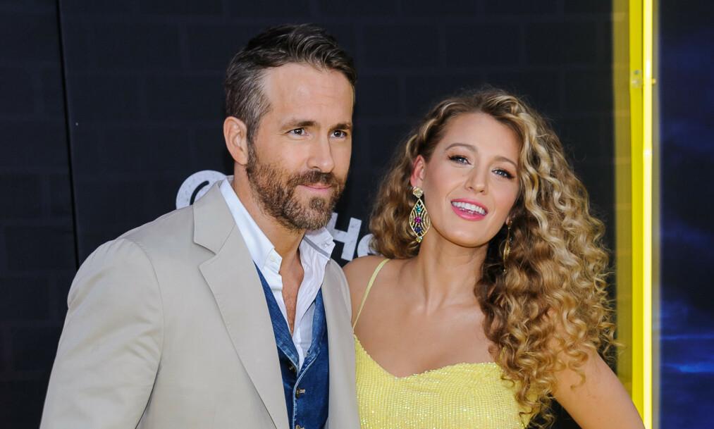 <strong>BARN IGJEN:</strong> Skuespiller Blake Lively og ektemannen Ryan Reynolds har fått sitt tredje barn sammen. Her på rød løper i mai i år - da de annonserte graviditeten. Foto: NTB Scanpix