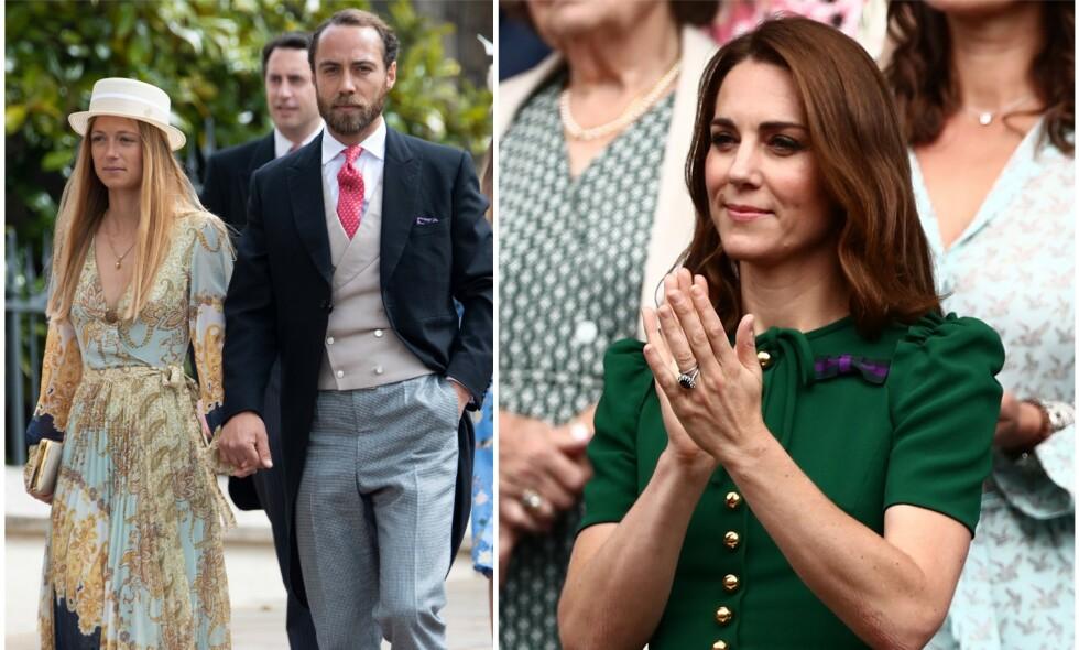 NYFORLOVET: Hertuginne Kates lillebor, James, har forlovet seg med sin franske kjæreste Alizee Thevenet. Det bekrefter han på Instagram. Foto: NTB Scanpix