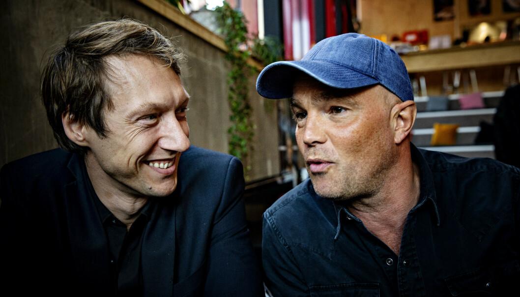 KOLLEGER: Jon Øigarden og Simon J. Beger lever helt andre liv enn hva rollefiguerene deres gjør på skjermen. Foto: Nina Hansen / Dagbladet