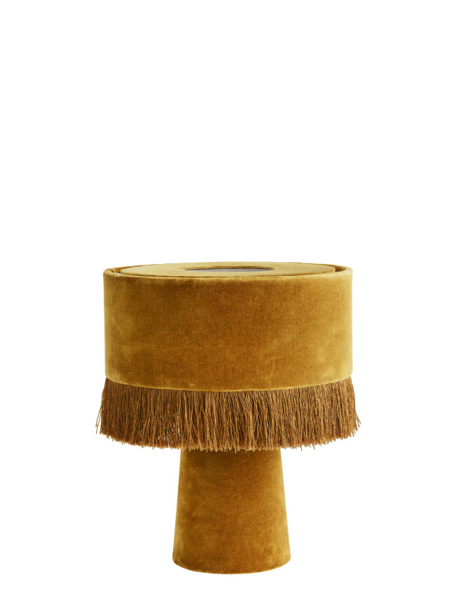 Lampe i fløyel (kr 1300, Madam Stoltz). FOTO: Produsenten