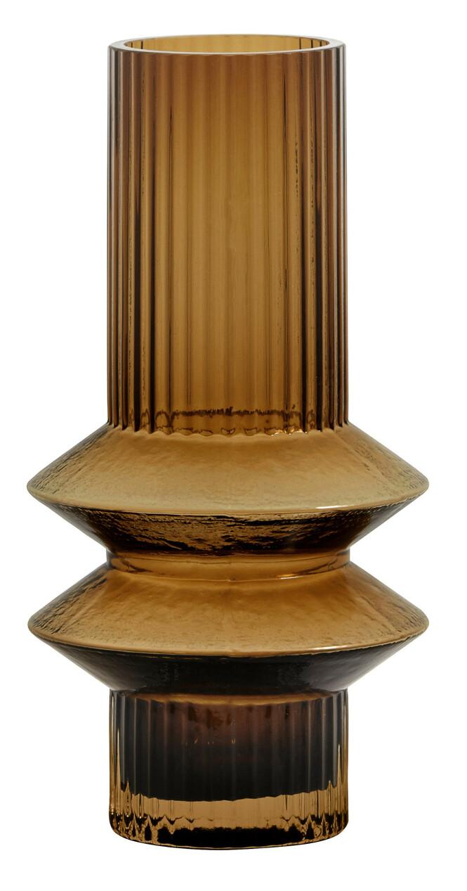 Glassvasen «Rilla Amber» (kr 200, Nordal). FOTO: Produsenten