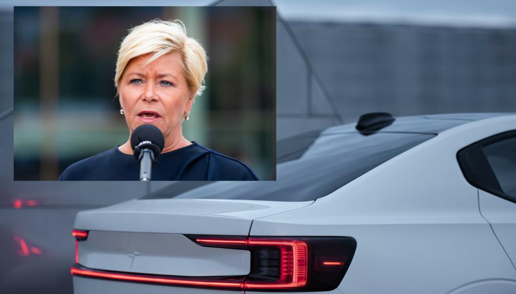 STATSBUDSJETTET 2020: Finansminister Siv Jensen la i dag frem Statsbudsjettet for 2020. Foto: NTB Scanpix / Polestar