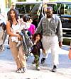 Kim Kardashian og Kanye West før de begynte dating