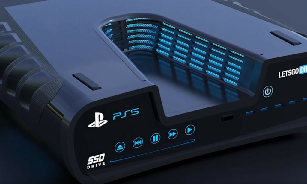 Playstation 5: Vil den se slik ut? Foto: LetsGoDigital/Youtube.