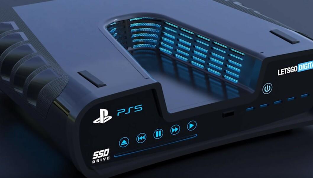Playstation 5: Vil den se slik ut? Foto: LetsGoDigital/Youtube.