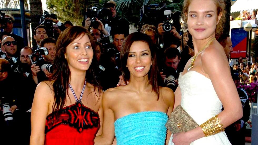 MAMMALYKKE: Natalie Imbruglia (t.v.) er blitt mor for første gang. Her er hun på den røde løperen sammen med Eva Longoria og Natalia Vodianova under filmfestivalen i Cannes i 2005.