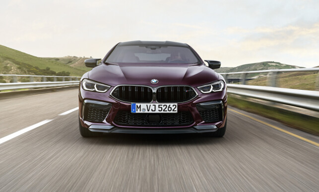 LESS BRAIN: Properly aggressive, but not at all luxurious, the way a Series 7 or an X7 can work - that's what the M8 Gran Coupe front looks like. Photo: BMW