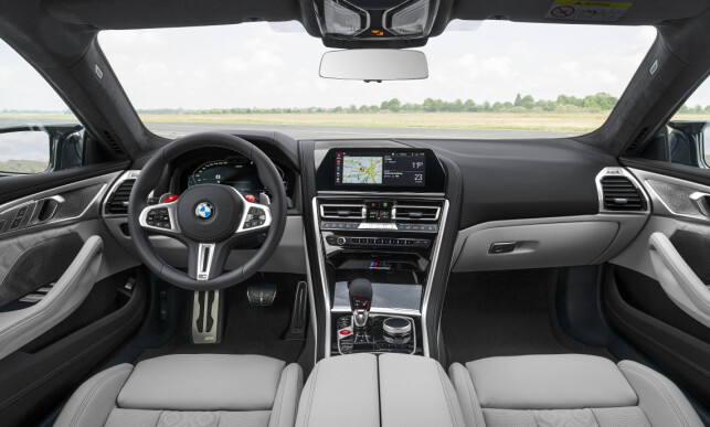 SPORT LUXURY: Despite 625 horsepower and 0-100 in 3.2 seconds (M8 Competition), there's not much racing humor here inside the M8. Photo: BMW