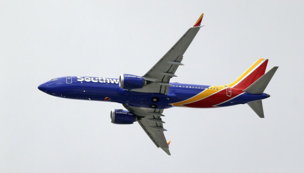 Det amerikanske flyselskapet Southwest Airline har satt to Booeing 737 NG-fly på bakken. Dette bildet viser en Boeing 737 Max 8. AP Photo/Elaine Thompson / NTB Scanpix