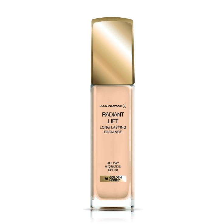 Radiant Lift foundation gir glød, tilfører fuktighet som varer hele dagen på grunn av hyaluronsyren. Formulaen inneholder også SPF 30 for beskyttelse mot solen.