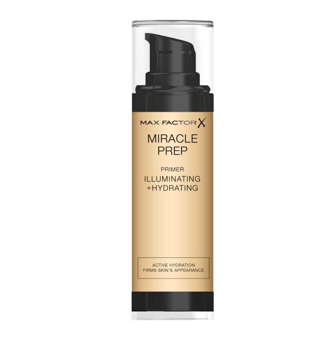 Miracle Prep Illuminating + Hydrating Primer er beriket med antioksidanter, vitamin E og C, og fuktighetsgivende niacimide som gjør det enkelt å legge en fin ansiktsminke.