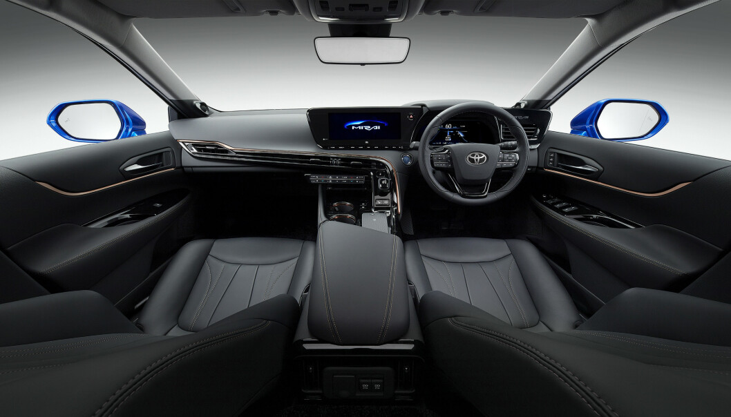 <strong>FUTURISTISK:</strong> Toyota går tydelig en mer premium og futuristisk retning med nye Mirai. Foto: Toyota