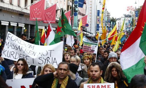 image: Demonstrasjoner mot Tyrkias offensiv i Syria i flere norske byer