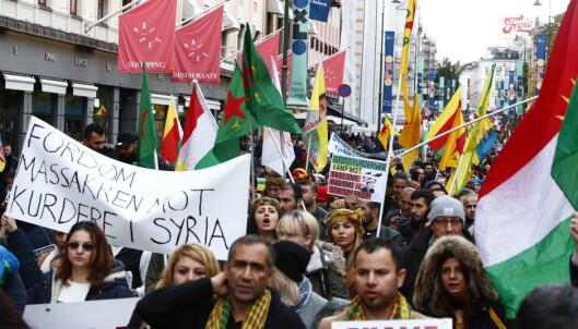 Demonstrasjoner mot Tyrkias offensiv i Syria i flere norske byer
