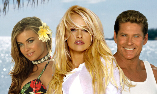KOLLEGER: Siden «Baywatch», der Carmen Electra spilte med blant andre Pamela Anderson og David Hasselhoff, har hun ikke opplevd like stor suksess. Foto: NTB Scanpix