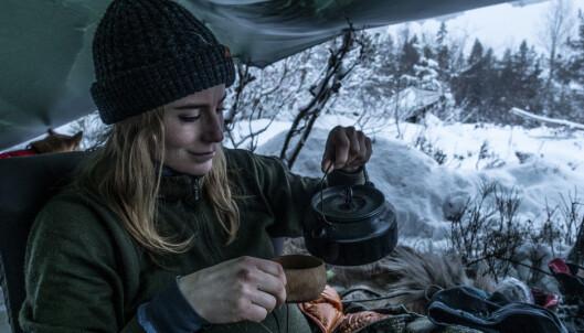 Psykolog, friluftsentusiast og blogger Johanne Refseth tilbringer rundt 50 netter i året utendørs. FOTO: Maria Edvardsen
