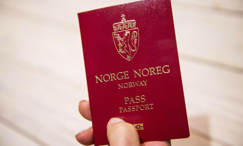 Illustrasjonsbilde av norsk pass. Foto: Jon Olav Nesvold / NTB scanpix