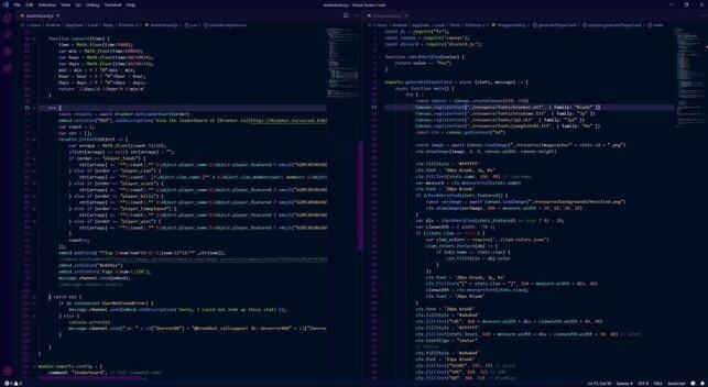 Slik ser skjermen til Anders Hagås Bommen ut når han jobber med Krunkbot. 📸: Privat