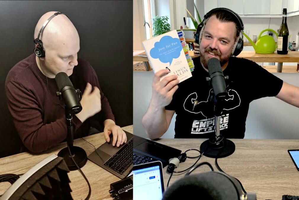 August Lilleaas og Finn Johnsen driver podcasten Utviklingslandet, og har skrevet en oppsummering av episoden om hva Microsoft fant ut ga flest feil i Windows Vista-koden. 📸: Privat