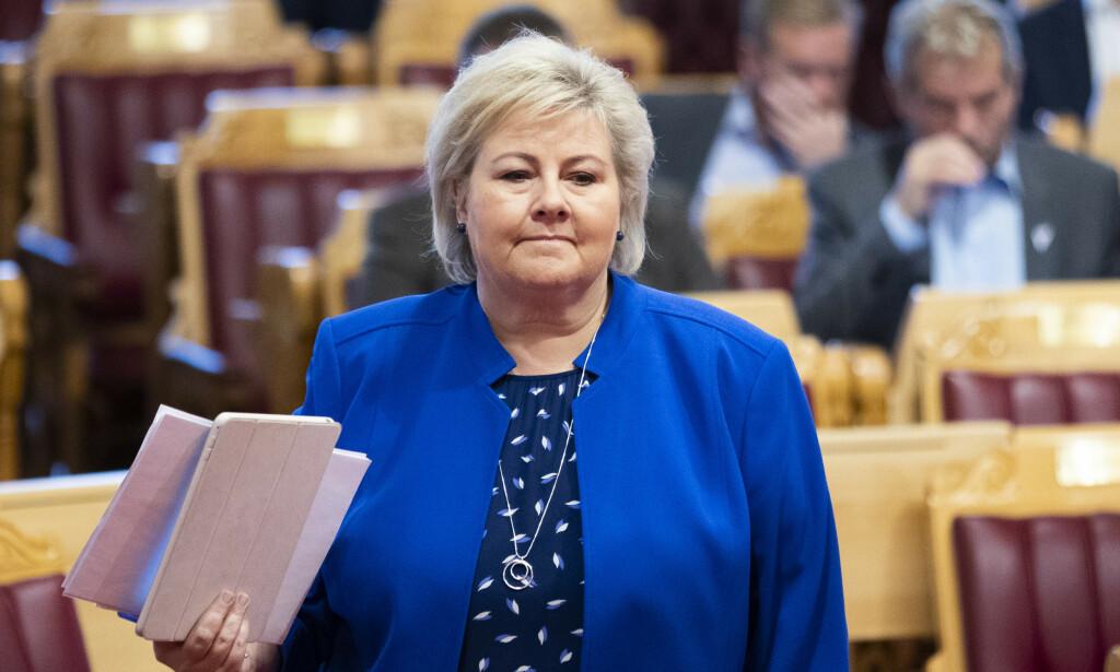 NEST RIKEST: Erna Solberg er nest rikest i regjering, mens bare fire statsråder har formue. Foto: Berit Roald / NTB scanpix