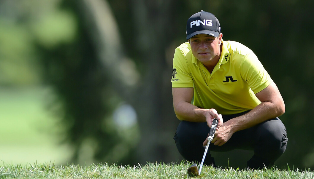 Viktor Hovland ble den første golfspilleren til å gå 18 runder i PGA-touren på 60-tallet. Foto: Foto: Jared C. Tilton / Getty Images North America / AFP / NTB scanpix.