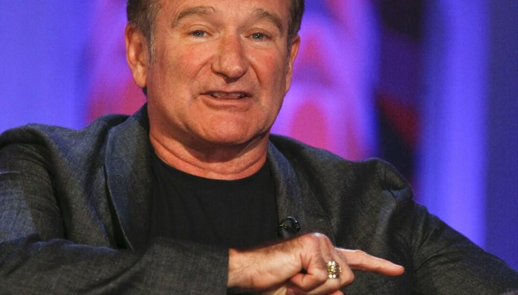 <strong>FOLKEKJÆR:</strong> Robin Williams var en svært folkekjær komiker og skuespiller. Livets hans tok en dramatisk vending da han fikk hjernesykdommen demens med Lewy-legemer. Foto: Scanpix