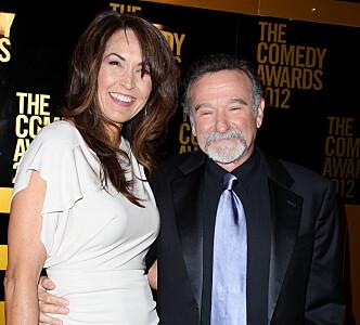 Robin Williams og kona Susan Schneider Williams. Foto: Scanpix