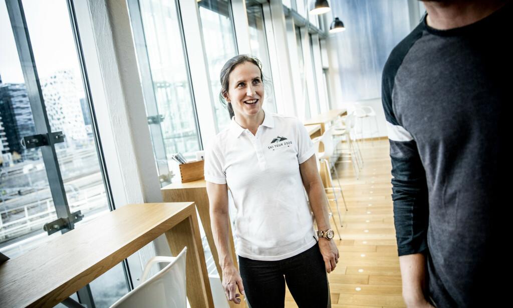 CLIMATE ACTION: Marit Bjørgen is pleased that the tour in Trondheim, Östersund, Åre and Meråker makes several climate measures. Bjørgen is ambassador for SkiTour 2020. Photo: Christian Roth Christensen / Dagbladet
