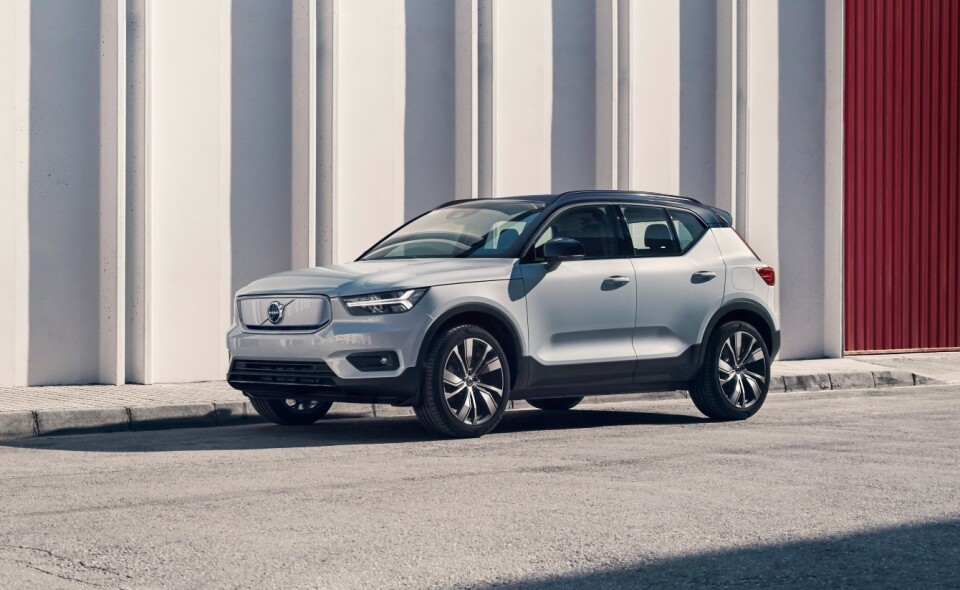 FULLELEKTRISK: Volvo lanserer en fullelektrisk utgave av XC40 sommeren 2020. Foto: Volvo