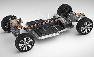 <strong>MÅTTE ØKE:</strong> På grunn av Tesla Model 3s rekkevidde, måtte Volvo stoppe opp og øke sin egen batterikapasitet også. Foto: Volvo