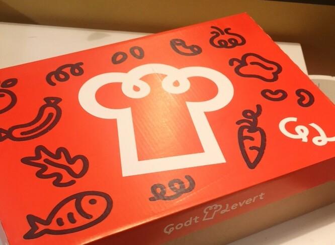 <strong>PRAKTISK:</strong> I denne kassen ligger råvarene til tre retter - og et oppskriftshefte som er enkelt å følge.