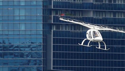 Flygende taxi testet i Singapore