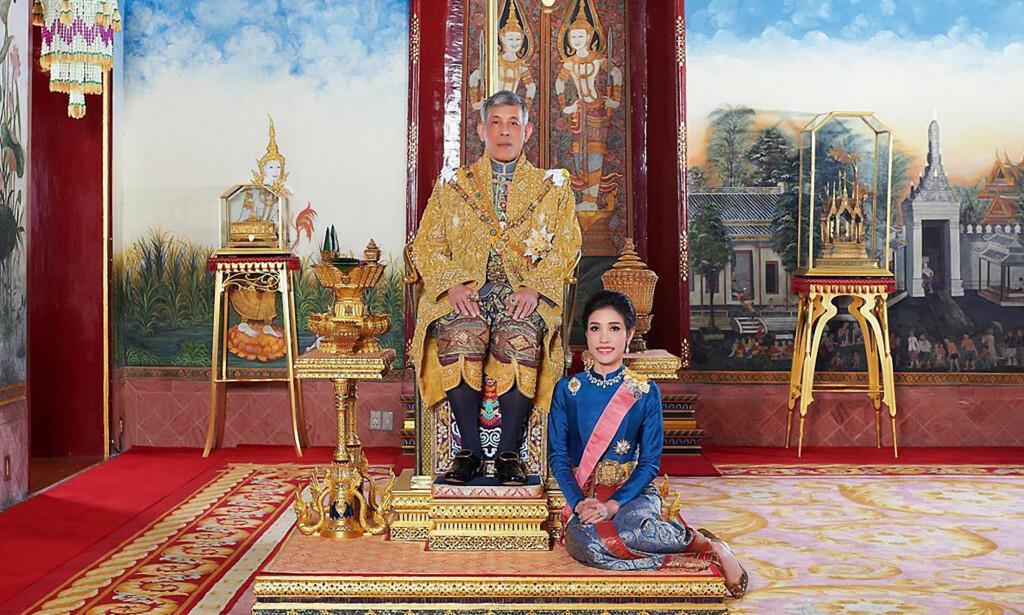 UNIKT: I juli ga den thailandske kongen Maha Vajiralongkorn elskerinnen sin kongelig tittel. Nå har han ombestemt seg. Foto: NTB Scanpix