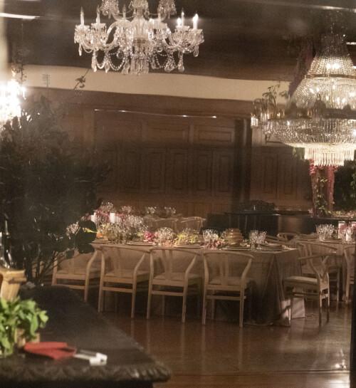 LEKKERT: Her er bilde fra innsiden av lokalet hvor bryllupsfesten til Jennifer Lawrence og Cooke Maroney ble holdt. Foto: NTB Scanpix
