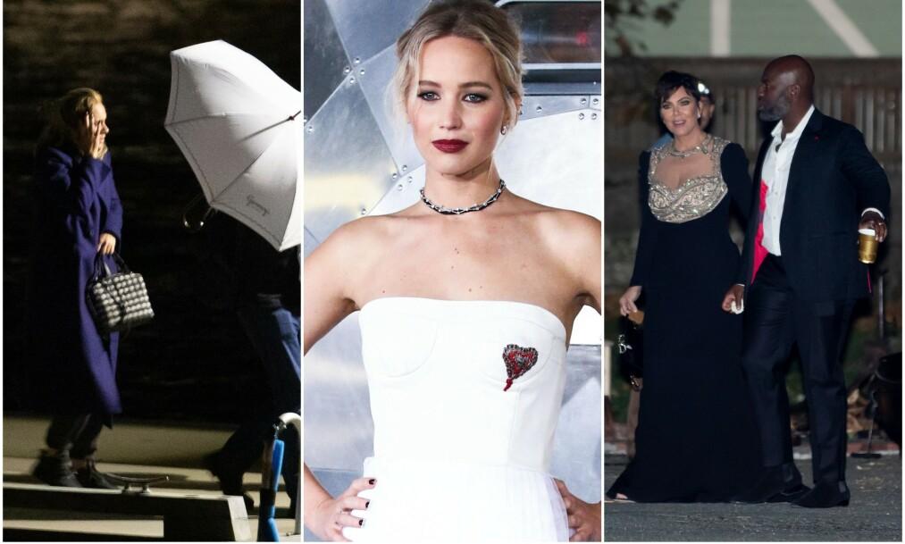 LITT AV EN FEST: Ifølge et øyevitne skal Hollywood-paret Jennifer Lawrence og Cooke Maroney sin bryllupsfest ha vart natten lang. Foto: NTB Scanpix