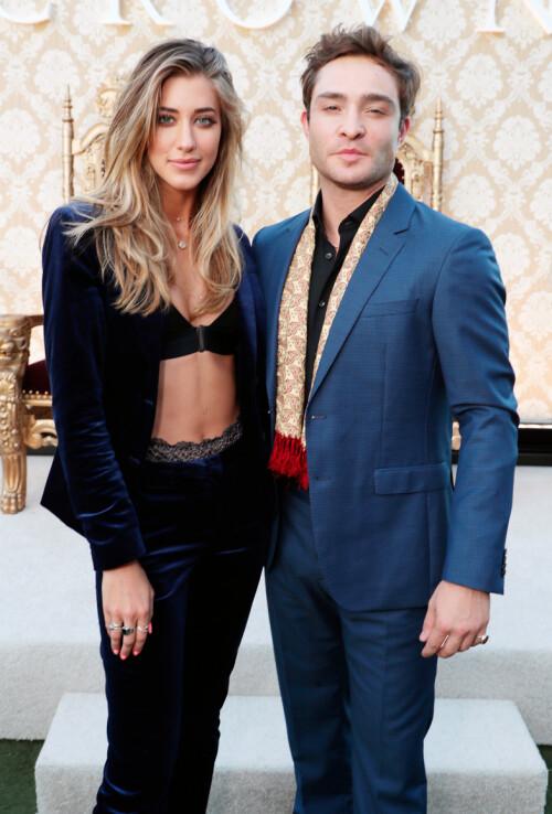<strong>EKSEN:</strong> Her er Ed Westwick med eks-kjæresten Jessica Serfaty på et event i Los Angeles sommeren for to år siden. Foto: NTB Scanpix