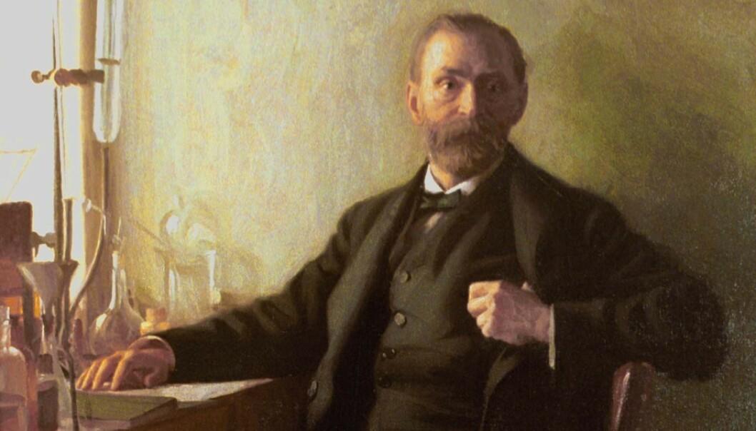 Alfred Nobel malt på sine eldre dager. Foto: The Nobel Foundation