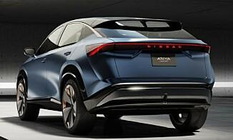BAK: Ariyas bakside skal vise bilens «muskuløse» design. Foto: Nissan
